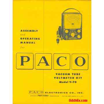 PACO Model V-70 VTVM (schematic and specs only)