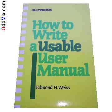 How to Write a User Manual