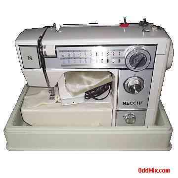 Sewing Machine Automatic Electric Necchi 40FA Precision Made In US Gorgeous Necchi Sewing Machine